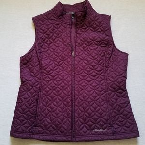 Eddie Bauer quilted vest purple lightweight L